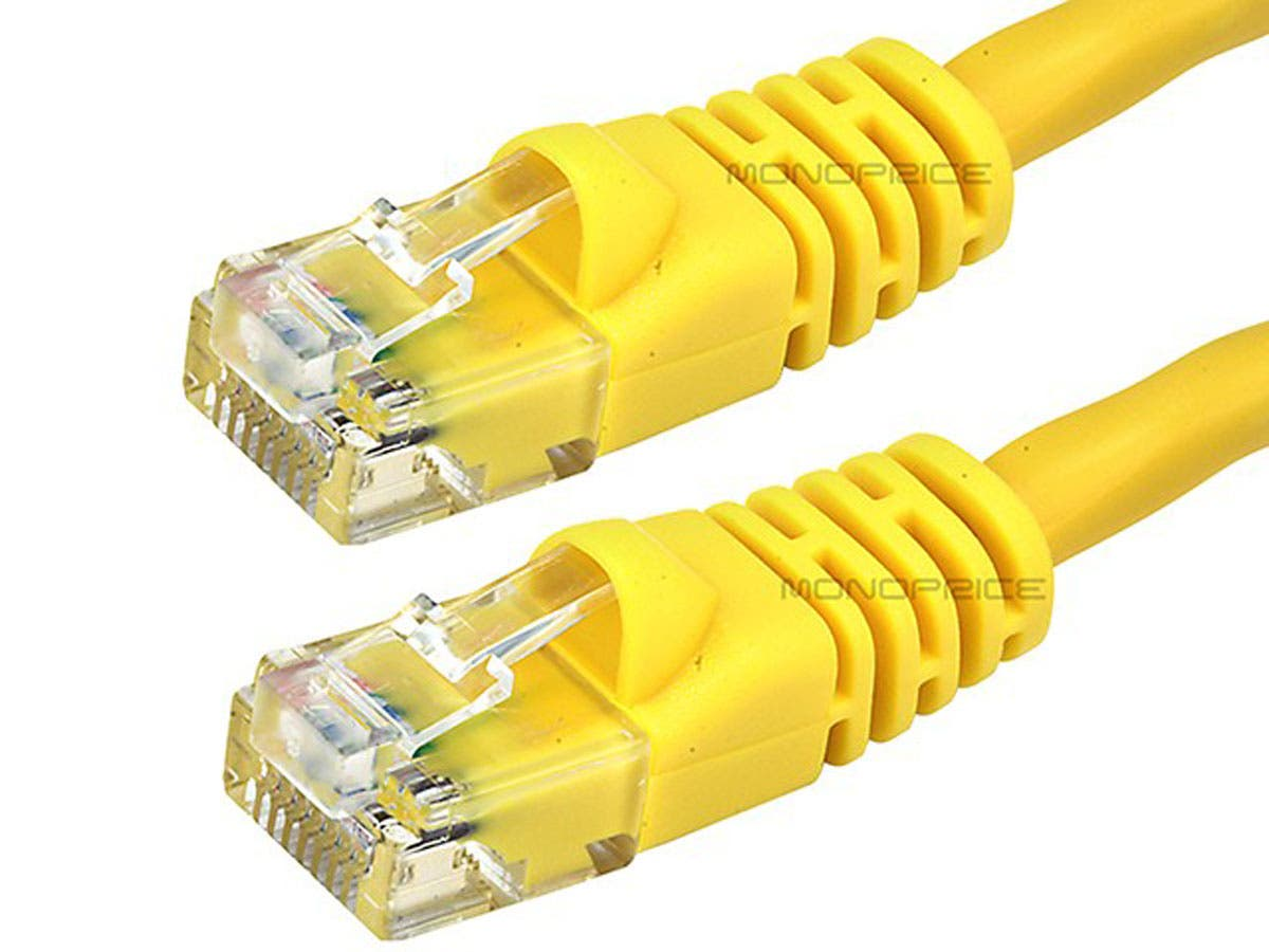 Monoprice Cat6 Ethernet Patch Cable Snagless Rj45 Stranded Pins And Wires Labelled For Power Over 550mhz Utp Pure