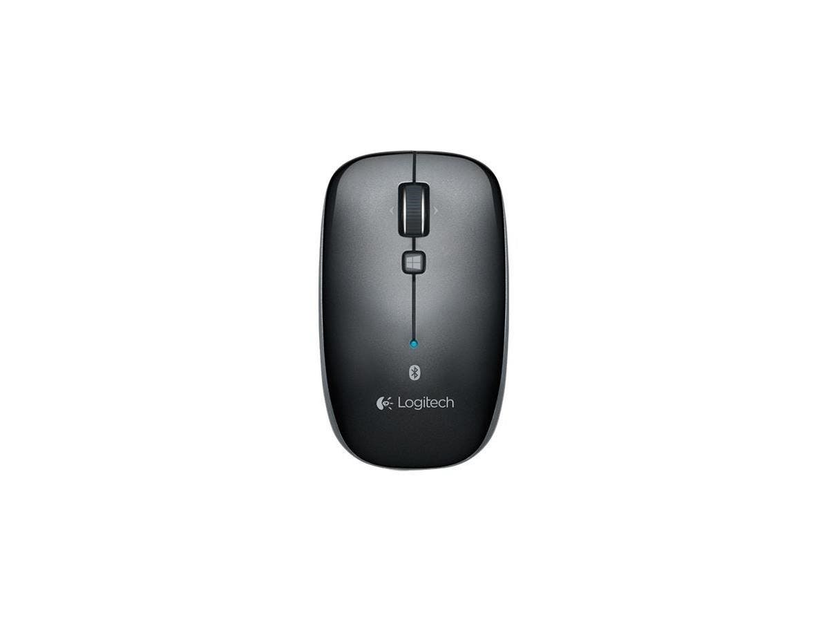 Logitech Bluetooth Mouse M557 - Optical - Wireless - Bluetooth - Dark Gray - 1000 dpi - Tablet, Computer, Notebook - Tilt Wheel - Symmetrical-Large-Image-1