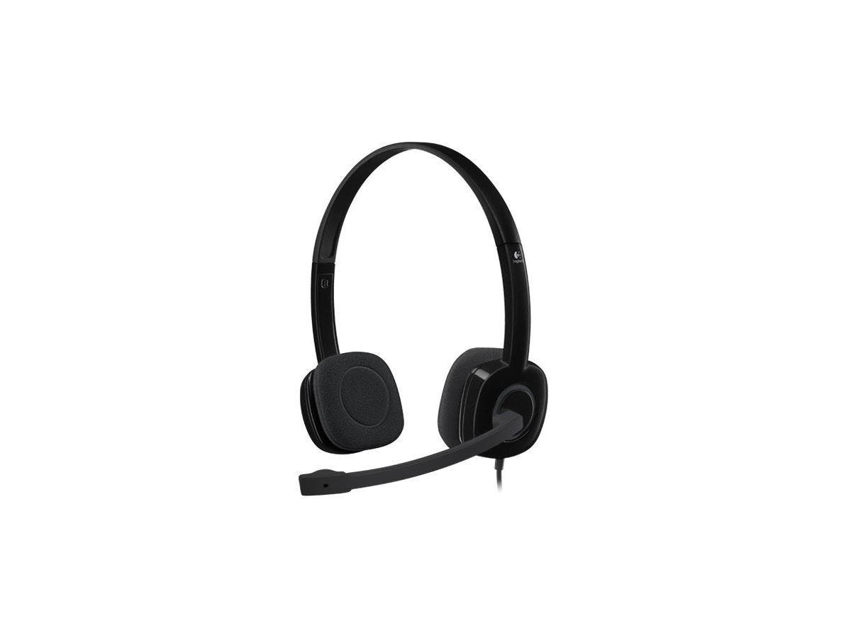 Logitech Stereo Headset H151 - Stereo - Black - Mini-phone - Wired - 22 Ohm - 20 Hz - 20 kHz - Over-the-head - Binaural - Supra-aural - 5.91 ft Cable-Large-Image-1
