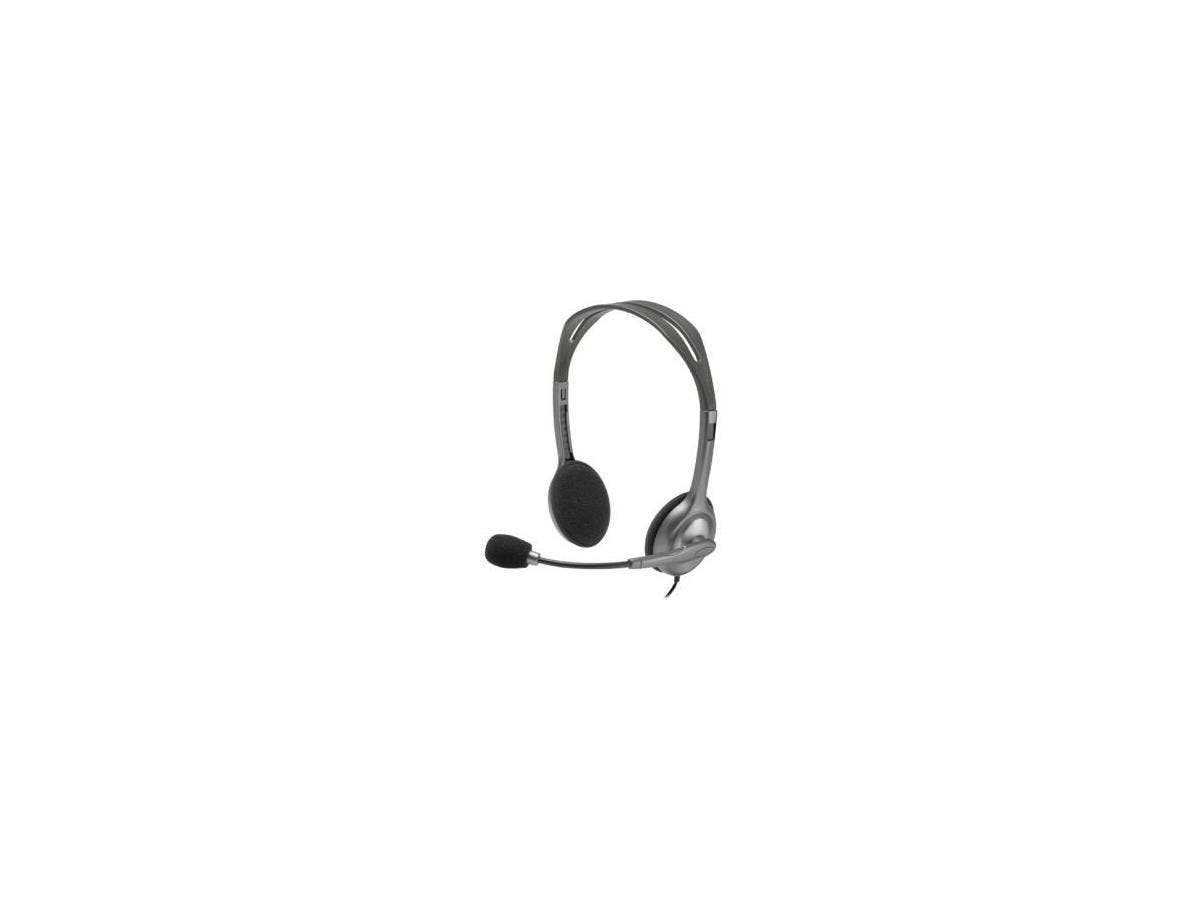 Logitech Stereo Headset H111 - Stereo - Mini-phone - Wired - 32 Ohm - 20 Hz - 20 kHz - Over-the-head - Binaural - Supra-aural - 5.91 ft Cable-Large-Image-1