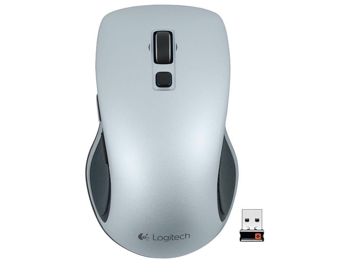 Logitech M560 Mouse - Wireless - Light Silver - USB
