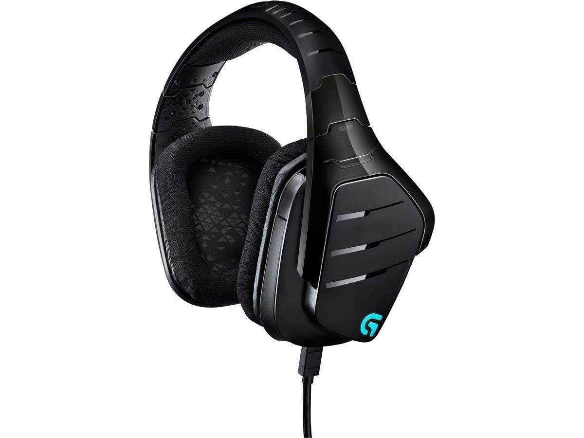 Logitech Artemis Spectrum RGB 7.1 Surround Gaming Headset - Black - Mini-phone, USB - Wired - 39 Ohm - 20 Hz - 20 kHz - Over-the-head - Binaural - Circumaural