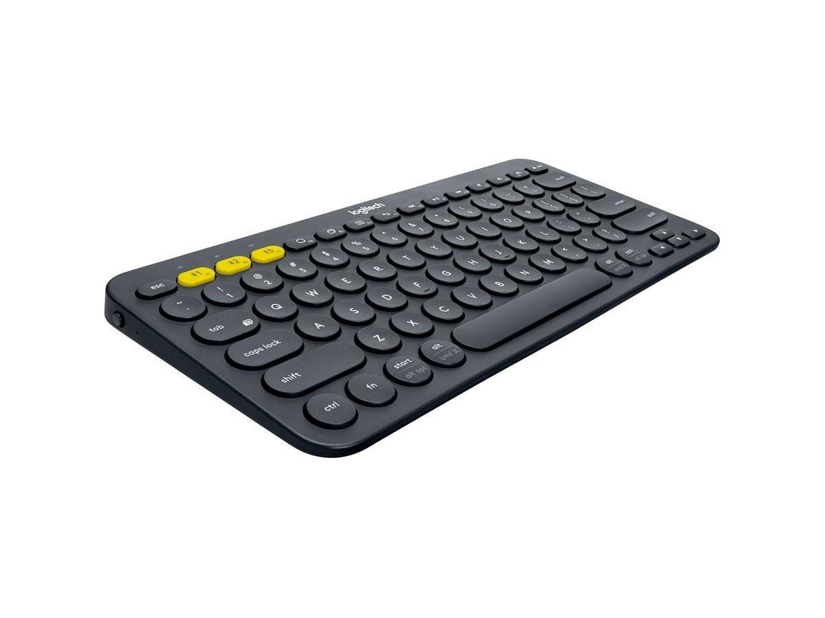Logitech K380 Multi-Device Bluetooth Keyboard - Wireless Connectivity - Bluetooth - 79 Key - Compatible with Computer, Tablet, Smartphone, Smart TV - QWERTY Keys Layout - Black-Large-Image-1