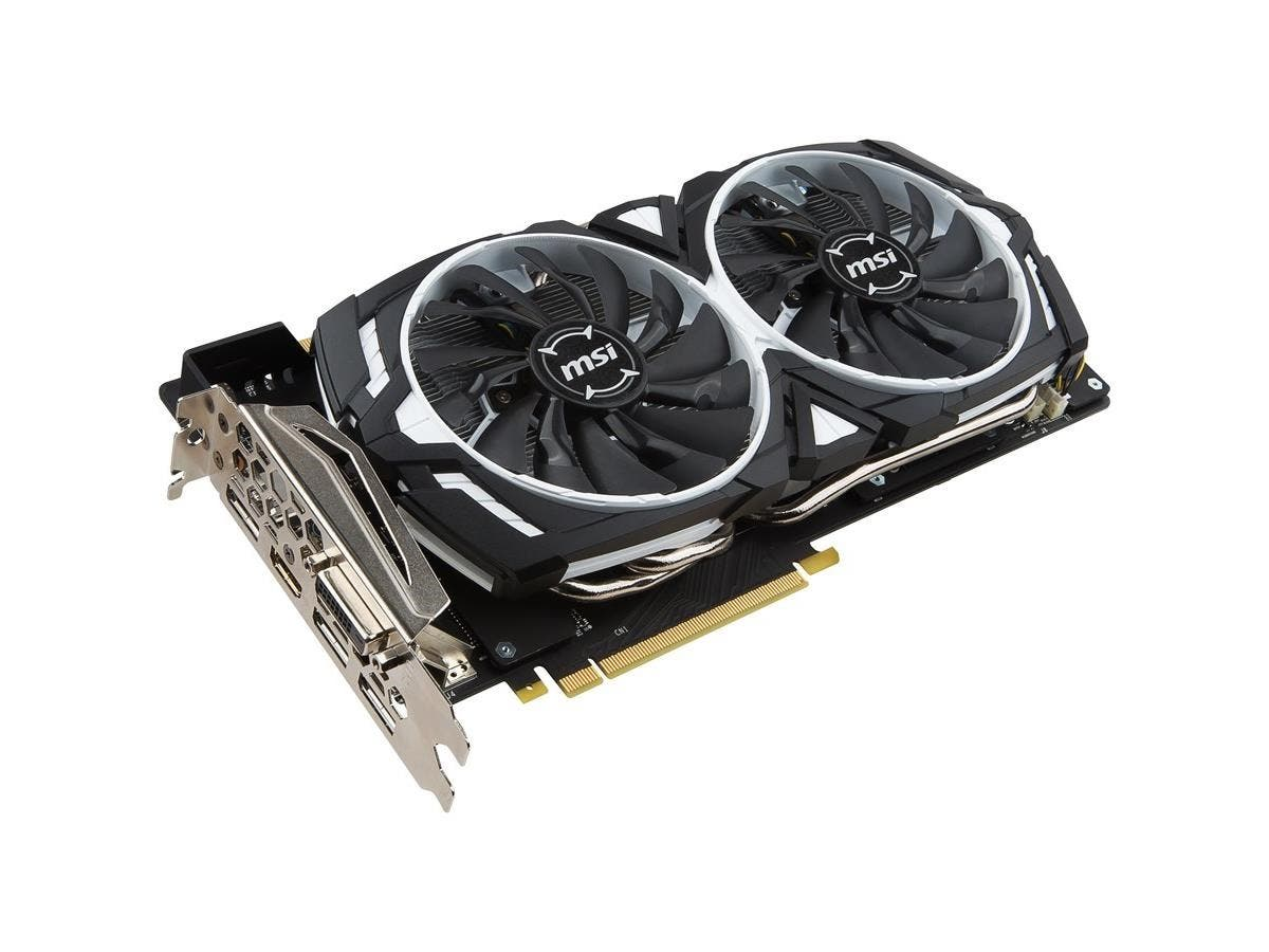 MSI ARMOR GTX 1070 ARMOR 8G OC GeForce GTX 1070 Graphic Card - 1.56 GHz Core - 1.75 GHz Boost Clock - 8 GB GDDR5 - PCI Express 3.0 x16 - 256 bit Bus Width - SLI - DirectX 12, OpenGL 4.5 - 3 x DisplayP