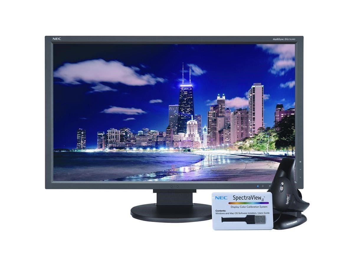 "NEC Display SpectraView EA275UHD-BK-SV 27"" LED LCD Monitor - 16:9 - 6 ms - 3840 x 2160 - 1.07 Billion Colors - 350 Nit - 1,000:1 - 4K UHD - Speakers - DVI - HDMI - DisplayPort - USB - 49 W-Large-Image-1"