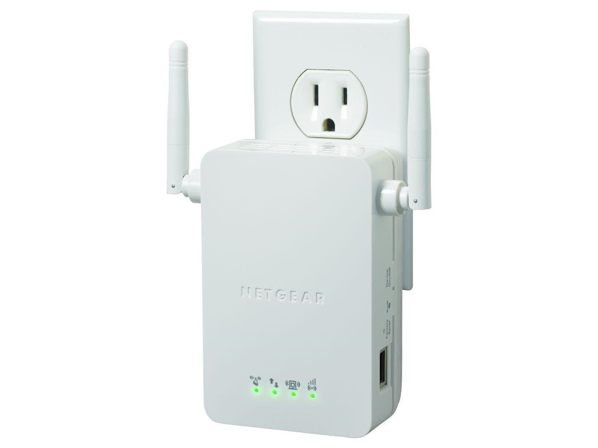 Netgear WN3000RP IEEE 802.11n 54 Mbit/s Wireless Range Extender - ISM Band - 1 x Network (RJ-45) - Wall Mountable-Large-Image-1