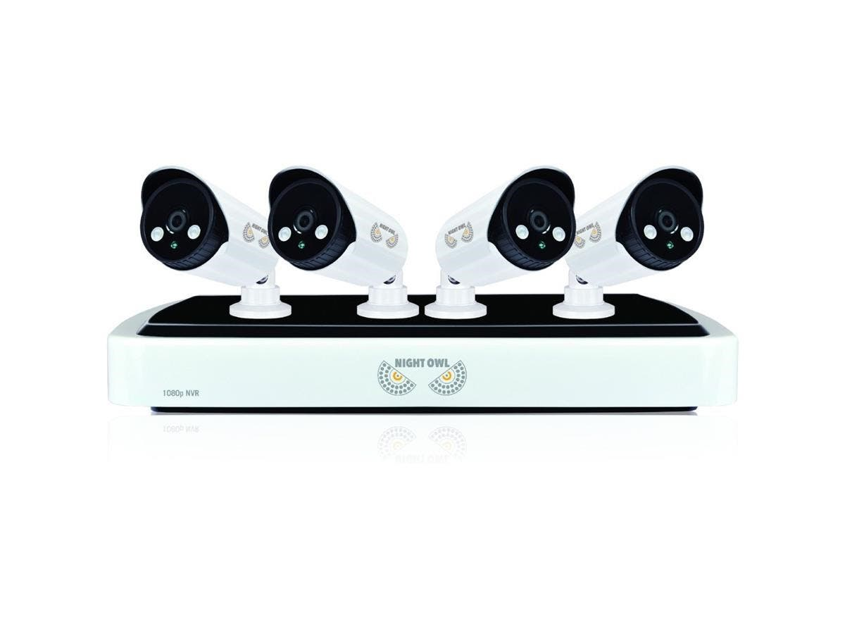 Night Owl NVR10-441 Video Surveillance System - Network Video Recorder, Camera - 1 TB Hard Drive - 30 Fps - 1080 - Composite Video In - 4 Audio In - 1 Audio Out - 1 VGA Out - HDMI