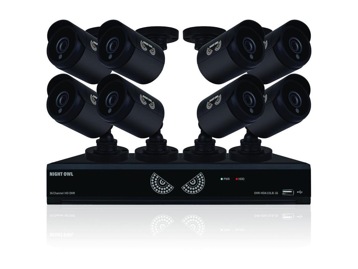 Night Owl Lite B-10LHDA-1681-720 Video Surveillance System - Digital Video Recorder, Camera - 1 TB Hard Drive - 30 Fps - 720 - Composite Video In - 4 Audio In - 1 Audio Out - 1 VGA Out - HDMI