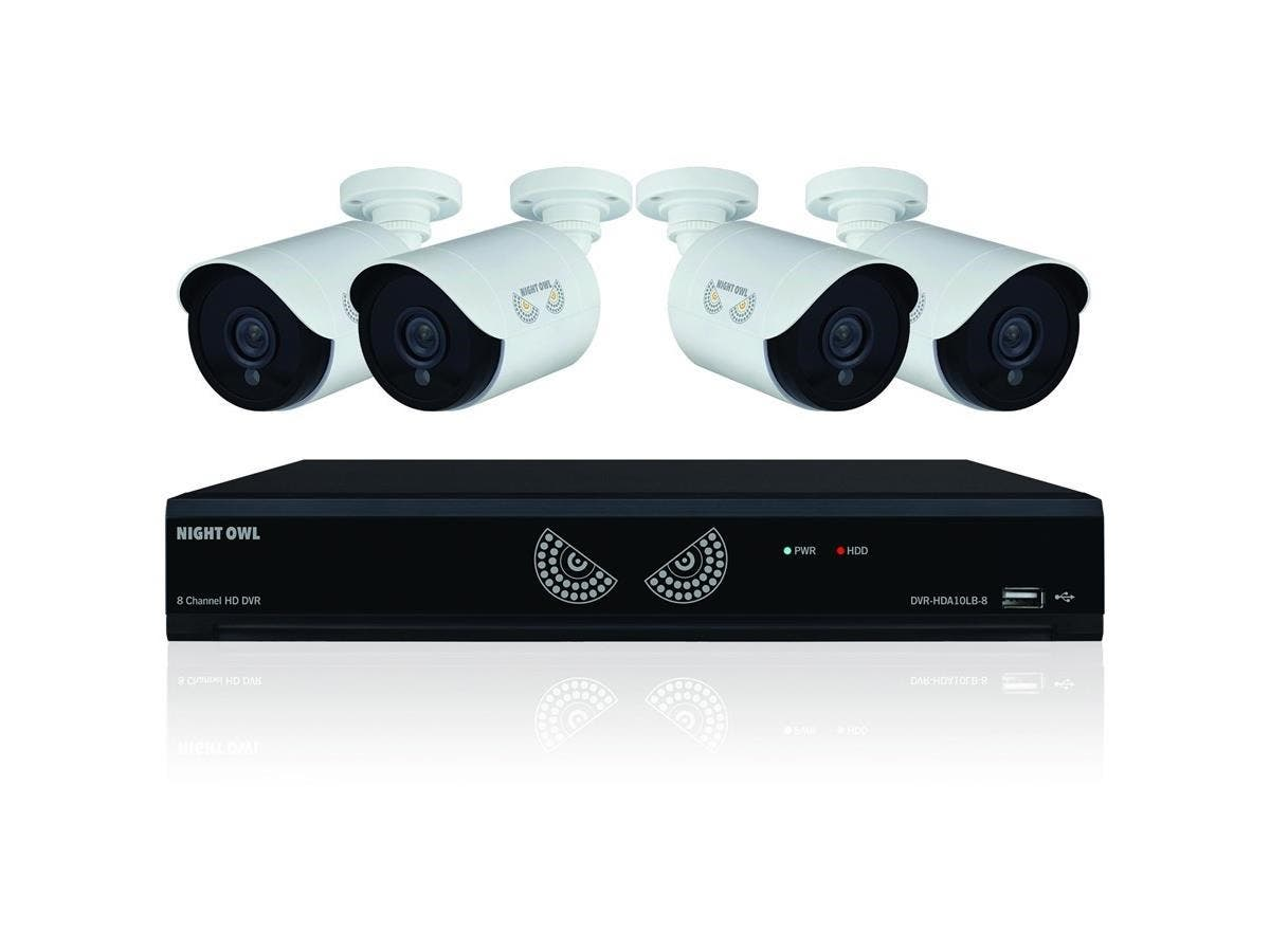 Night Owl Lite B-10HLDA-841-1080 Video Surveillance System - Digital Video Recorder, Camera - 1 TB Hard Drive - 30 Fps - 1080 - Composite Video In - 4 Audio In - 1 Audio Out - 1 VGA Out - HDMI-Large-Image-1