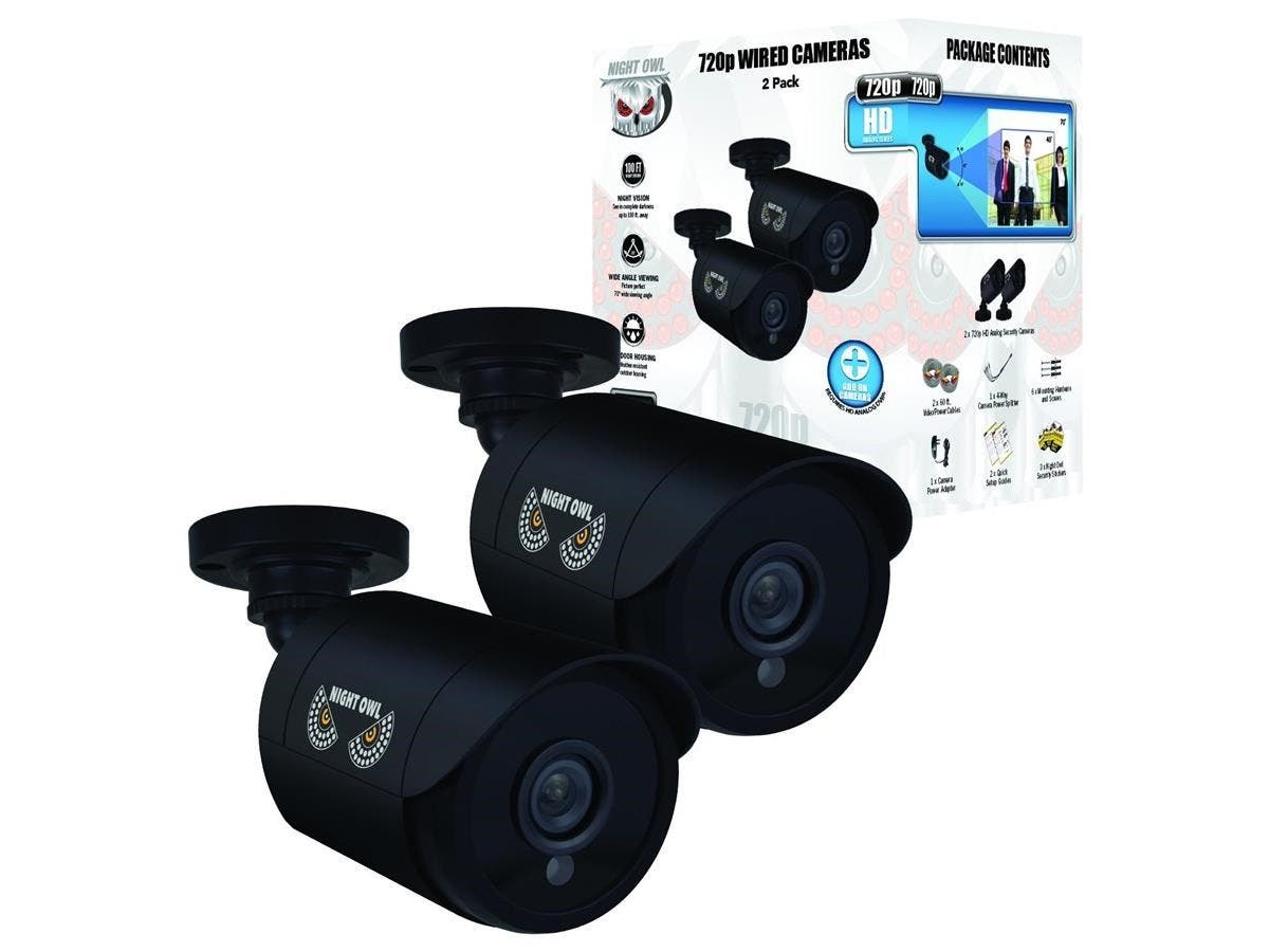 Night Owl CM-HDA7B-BU 1 Megapixel Surveillance Camera - 2 Pack - Color - 100 ft - 1280 x 7203.60 mm - Bullet-Large-Image-1
