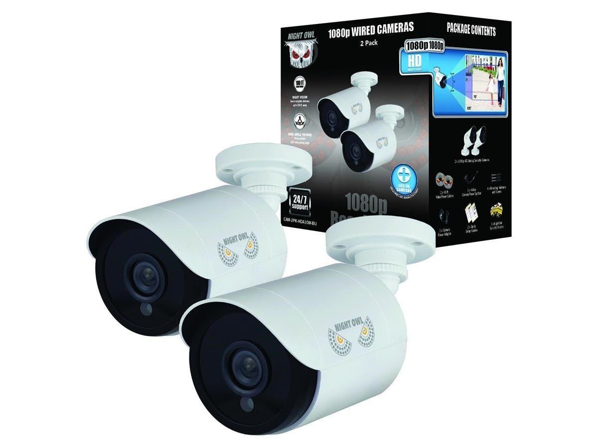 Night Owl CM-HDA10W-BU 2 Megapixel Surveillance Camera - 2 Pack - Color - 100 ft - 1920 x 10803.60 mm - Bullet-Large-Image-1