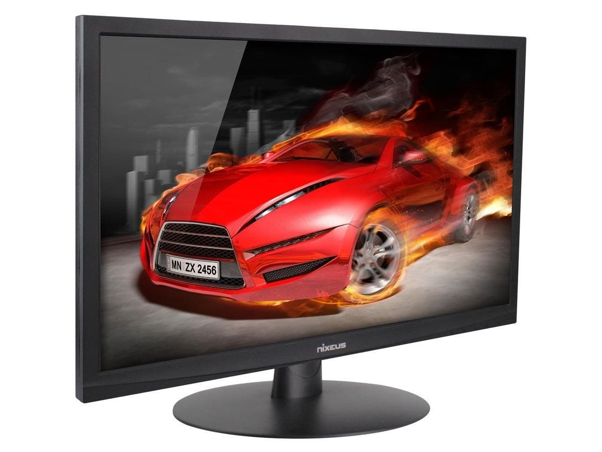 "Nixeus Vue NX-VUE24 24"" LED LCD Monitor - 16:9 - 1 ms - Adjustable Display Angle - 1920 x 1080 - 16.7 Million Colors - 300 Nit - 1,000:1 - Full HD - Speakers - DVI - HDMI - VGA - Displayport-Large-Image-1"
