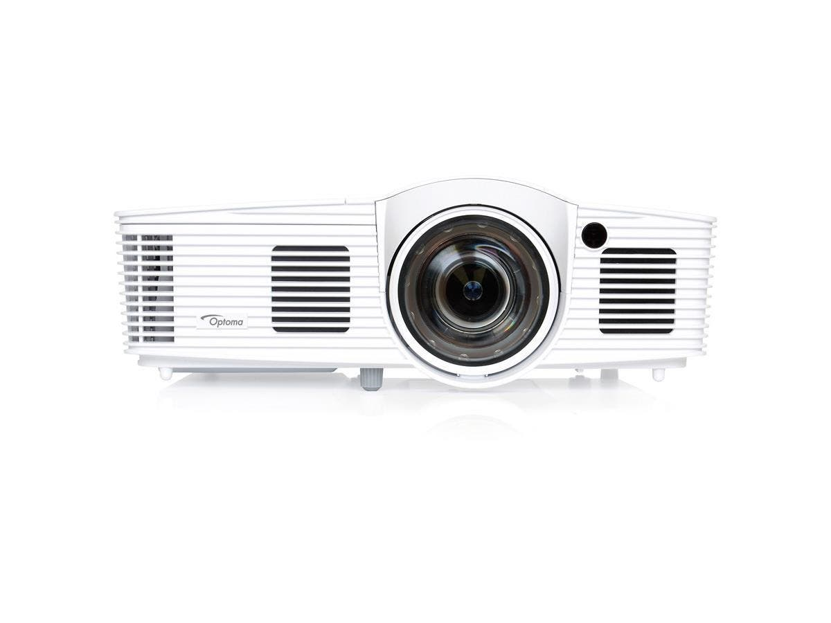 Optoma EH200ST Full 3D 1080p 3000 Lumen DLP Short Throw Projector with 20,000:1 Contrast Ratio and MHL Enabled - Ceiling, Front, Rear2.8 - P-VIP - 190 W - NTSC, PAL, SECAM - 5000 Hour Normal Mode - 60-Large-Image-1