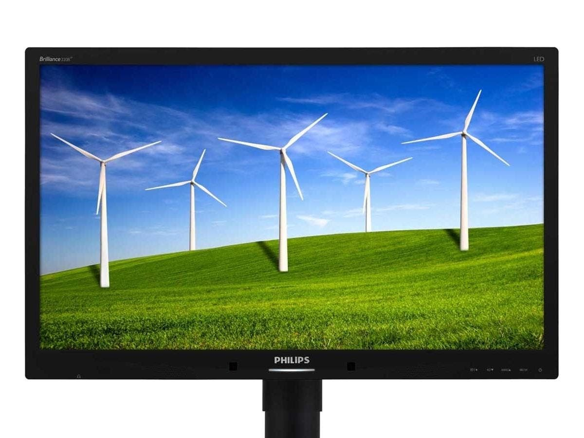 "Philips Brilliance 220B4LPCB 22"" LED LCD Monitor - 16:10 - 5 ms - Adjustable Display Angle - 1680 x 1050 - 16.7 Million Colors - 250 Nit - 1,000:1 - WSXGA+ - Speakers - DVI - VGA - USB-Large-Image-1"