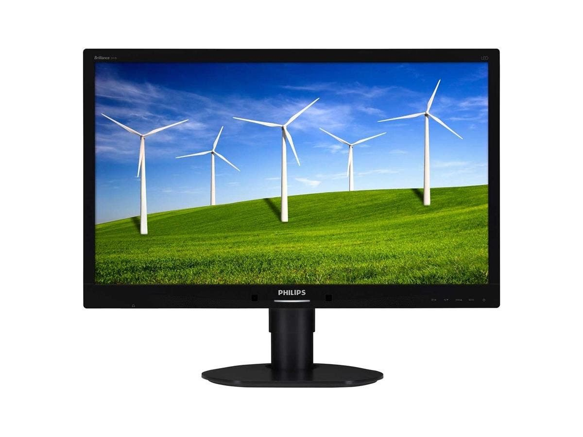 "Philips Brilliance 241B4LPYCB 24"" LED LCD Monitor - 16:9 - 5 ms - Adjustable Display Angle - 1920 x 1080 - 16.7 Million Colors - 250 Nit - 20,000,000:1 - Full HD - Speakers - DVI - VGA - DP"