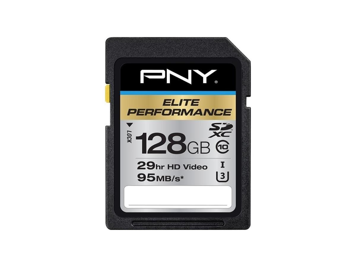 PNY Elite Performance 128 GB SDXC - Class 10/UHS-I (U3) - 95 MB/s Read-Large-Image-1