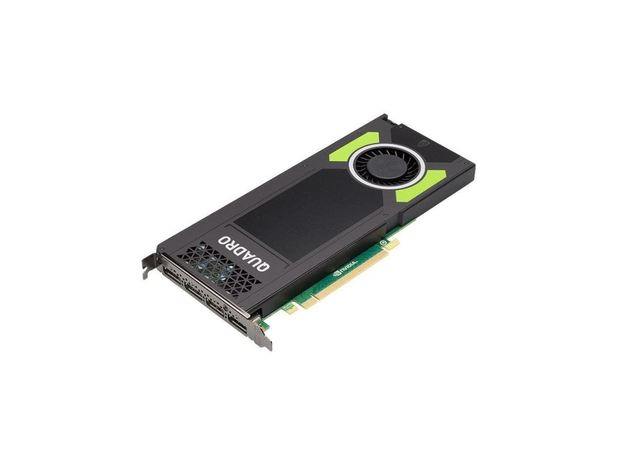 PNY Quadro M4000 Graphic Card - 8 GB GDDR5 - PCI Express 3.0 x16 - Single Slot Space Required - 256 bit Bus Width - Fan Cooler - OpenGL 4.5, DirectX 12, DirectCompute, OpenCL - 4 x DisplayPort - 0 - P-Large-Image-1
