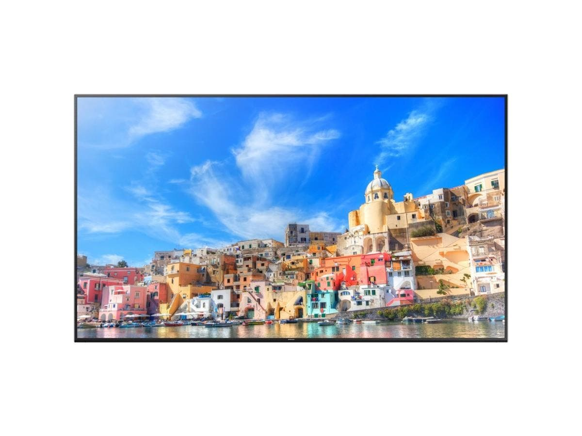 "Samsung QM85D - QM-D Series 85"" Slim Direct-Lit UHD LED Display - 85"" LCD - 3840 x 2160 - Direct LED - 500 Nit - 2160p - HDMI - USB - DVI - SerialEthernet - Black-Large-Image-1"