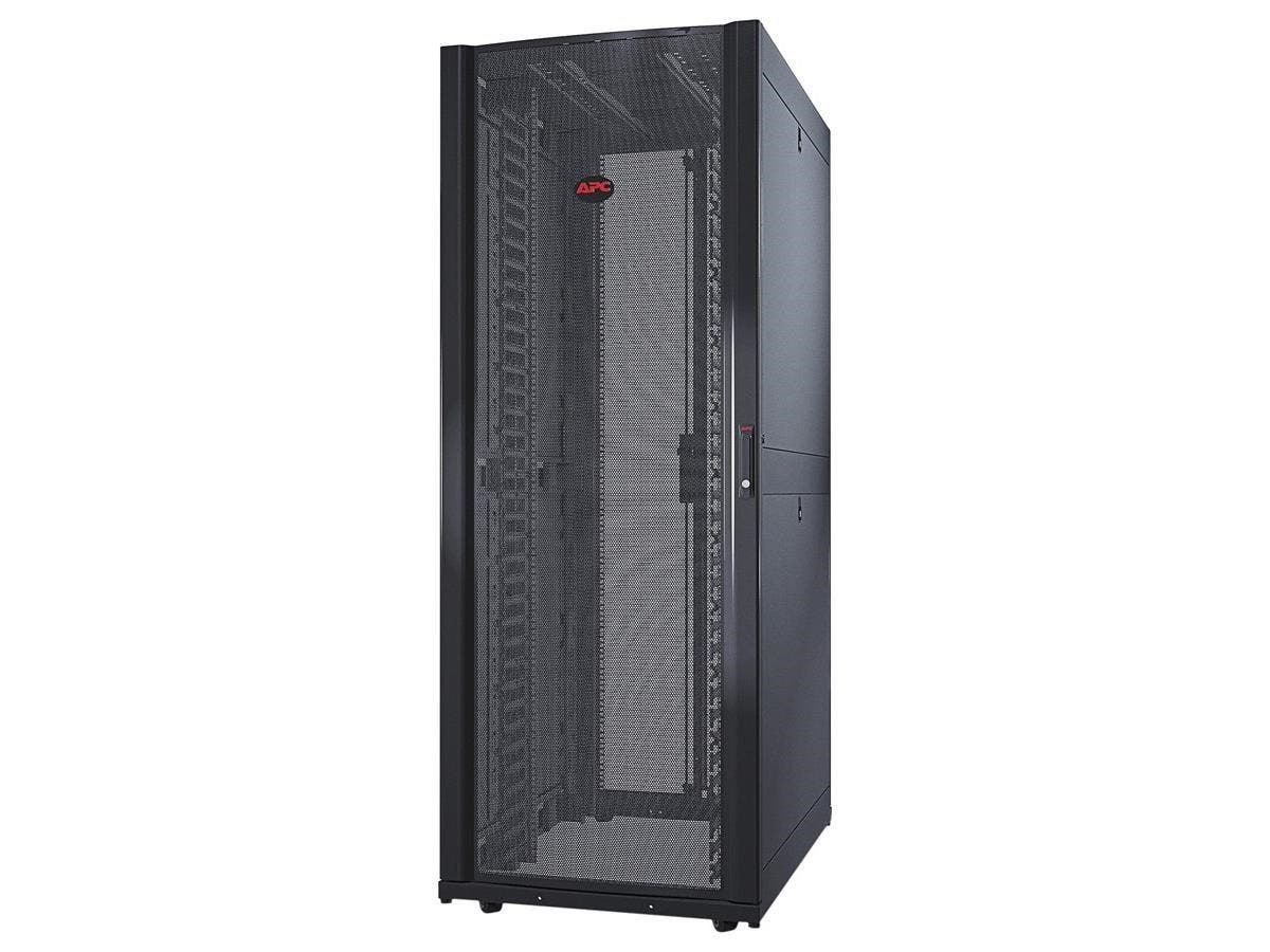 "Schneider Electric NetShelter SX 42U 750mm Wide x 1070mm Deep Networking Enclosure with Sides - 19"" 42U Wide Floor Standing for Server - Black - 2254.73 lb x Dynamic/Rolling Weight Capacity -Large-Image-1"