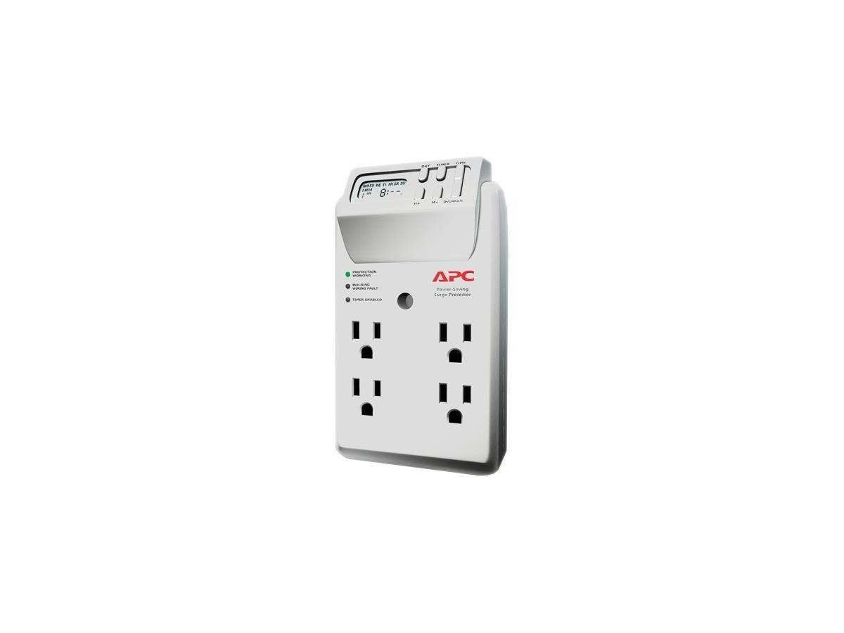 APC SurgeArrest Essential P4GC 4-Outlets Surge Suppressor - 4 x NEMA 5-15R - 1020 J - 120 V AC Input - 120 V AC Output-Large-Image-1