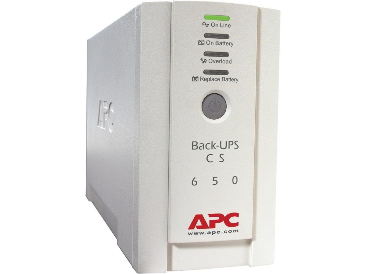 APC Back-UPS CS 650VA 230V For International Use - 650VA/400W - 11.4 Minute Full Load - 3 x IEC 320-C13 - Battery/Surge-protected, 2 x - Battery/Surge-protected, 1 x IEC 320-C13 - Surge-protected-Large-Image-1