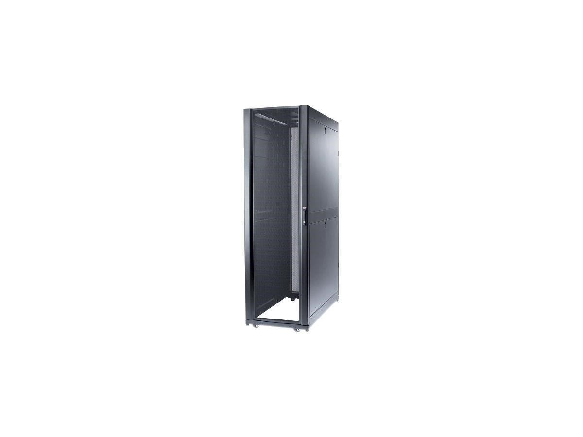 "Schneider Electric Rack Cabinet - 19"" 42U Wide - Black - 2254.73 lb x Dynamic/Rolling Weight Capacity - 3006.31 lb x Static/Stationary Weight Capacity"