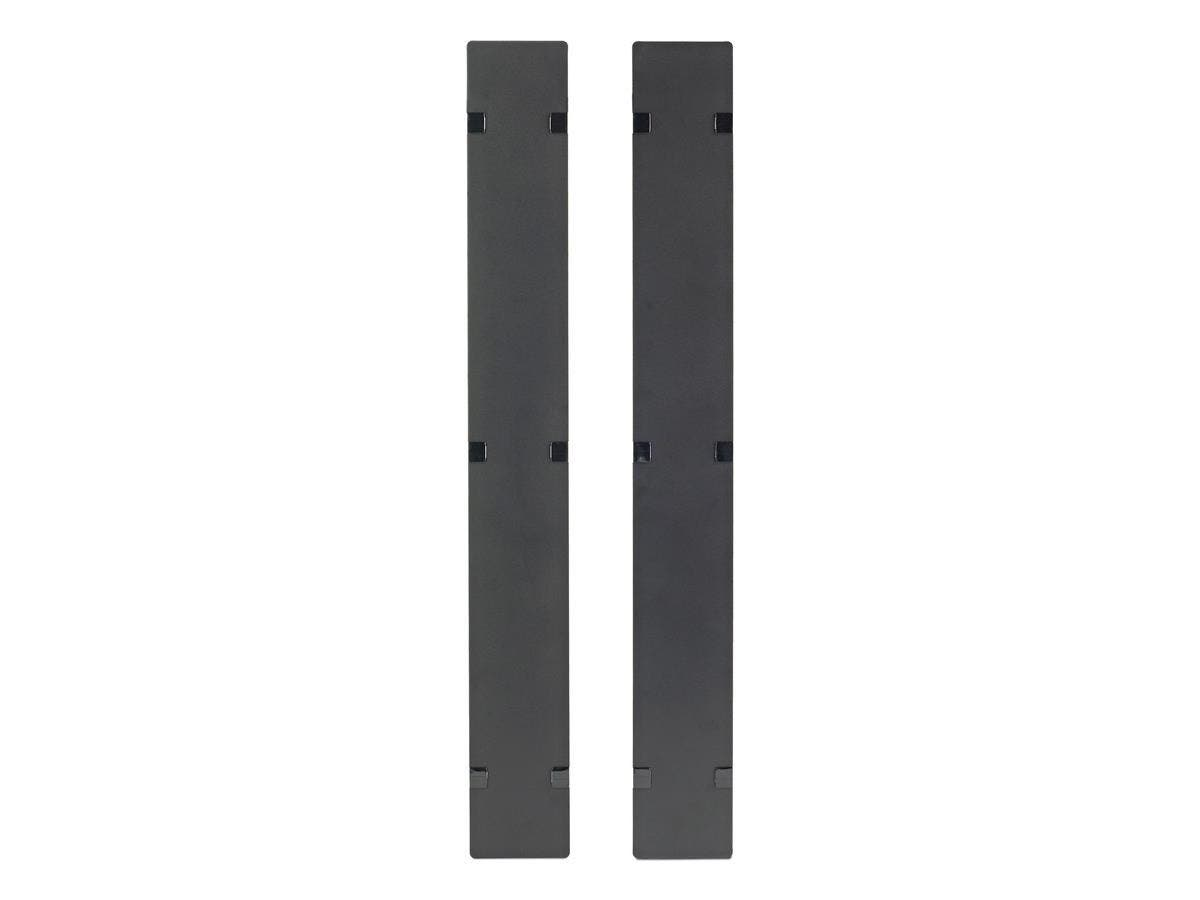 APC Hinged Covers for NetShelter SX 750mm Wide 42U Vertical Cable Manager (Qty 2) - Cover - Black - 2 Pack - 42U Rack Height