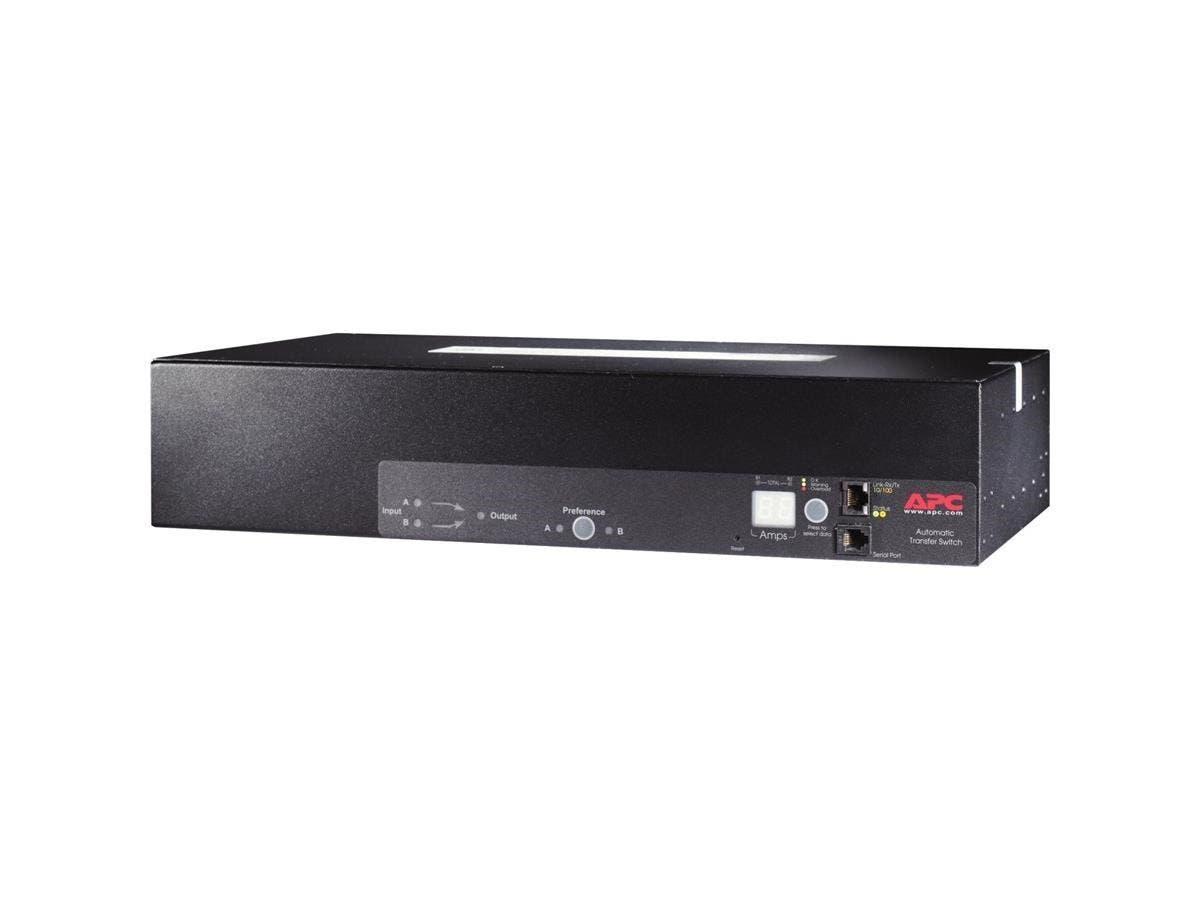 APC Automatic Transfer Switch - NEMA 5-20R - 1 Poles - 110 V AC - 2U