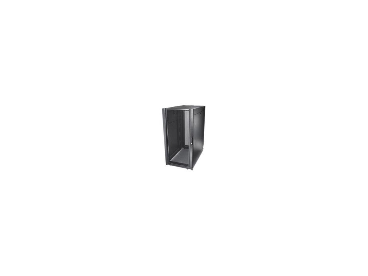 "Schneider Electric NetShelter SX Rack Cabinet - 19"" 24U Wide - Black - 2254.73 lb x Dynamic/Rolling Weight Capacity - 3006.31 lb x Static/Stationary Weight Capacity"