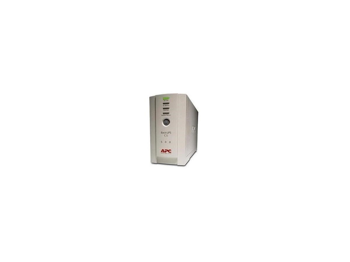 APC Back-UPS CS 500 - 500VA/300W - 2.4 Minute Full Load - 3 x IEC 320-C13, 1 x IEC 320-C13 - Battery/Surge-protected, 2-Large-Image-1
