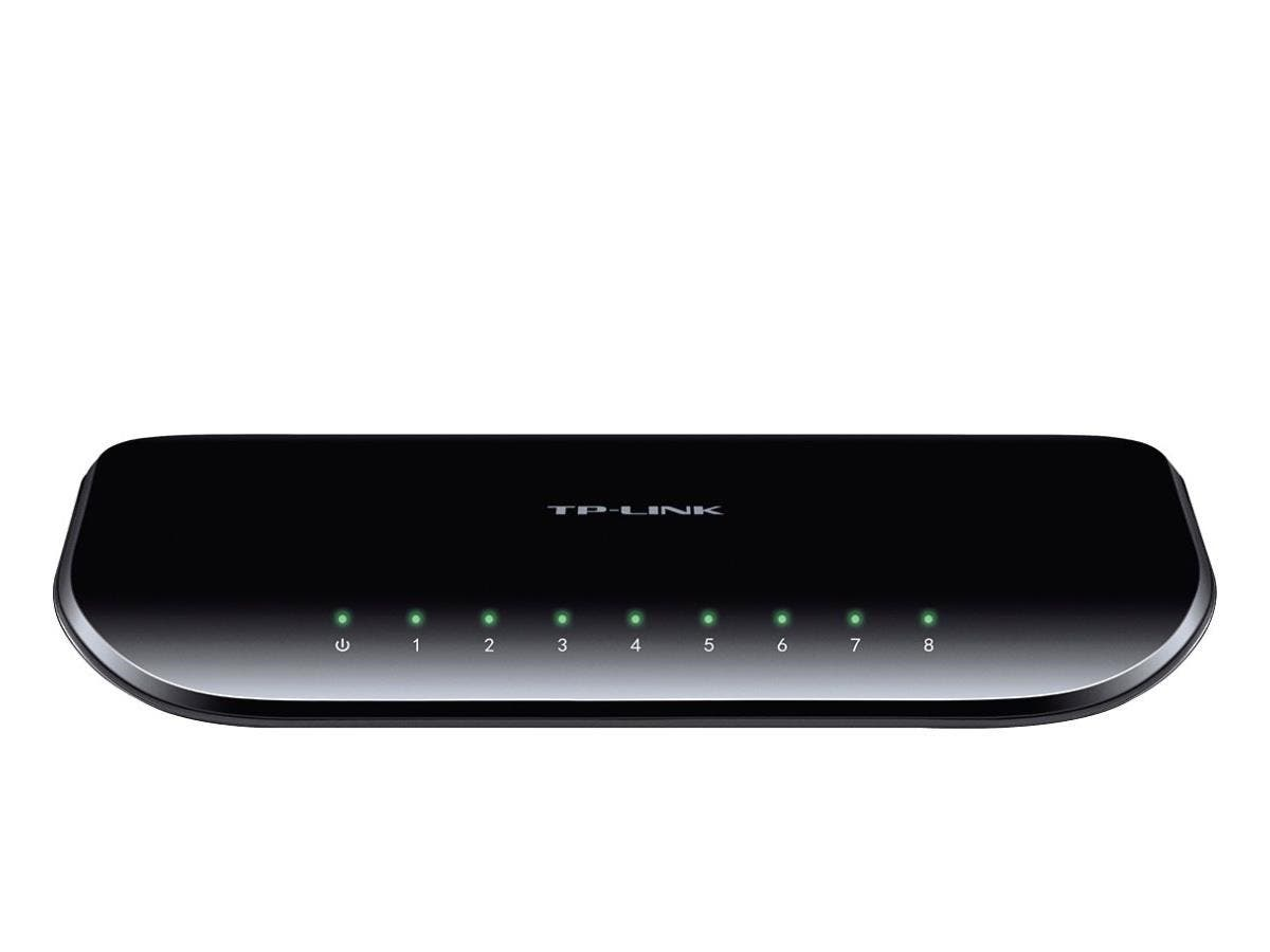 TP-LINK TL-SG1008D 10/100/1000Mbps 8-Port Gigabit Desktop Switch, 10Gbps Switching Capacity - 8 Ports - 8 x RJ-45 - 10/100/1000Base-T