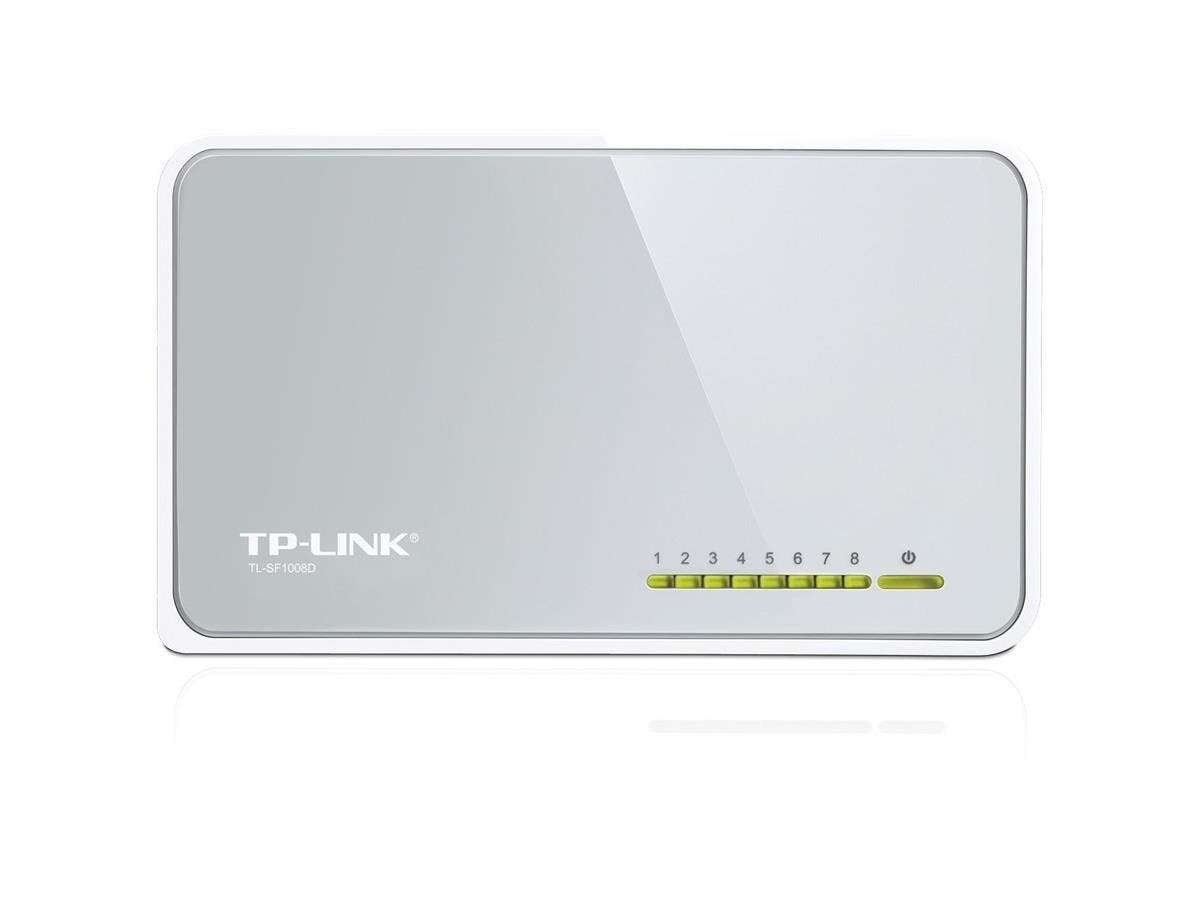 TP-LINK TL-SF1008D 8-port 10/100Mbps Desktop Switch - 8 Ports - 8 x RJ-45 - 10/100Base-TX-Large-Image-1