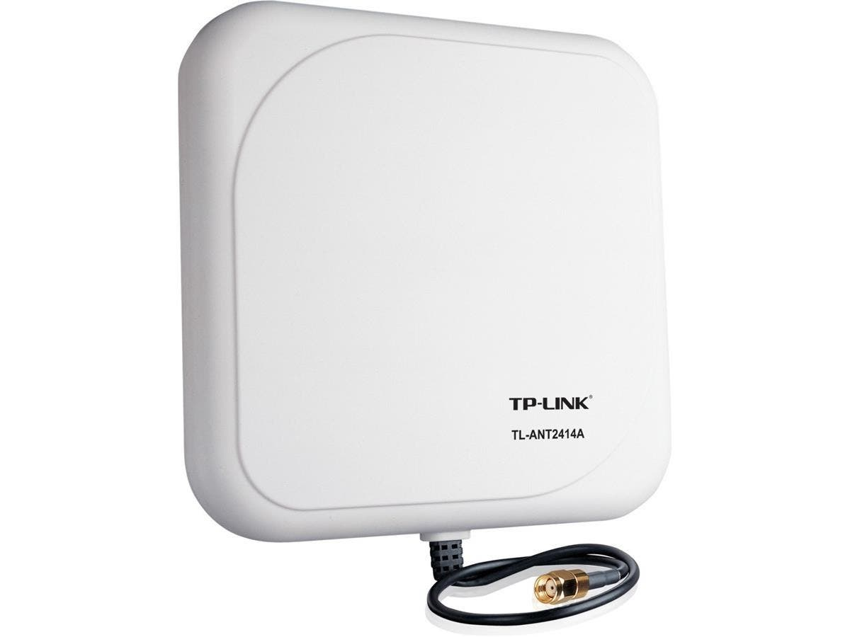 TP-LINK TL-ANT2414A 2.4GHz 14dBi Outdoor Directional Antenna, RP-SMA Male connector, 1m/3ft cable - 14 dBi - Panel-Large-Image-1