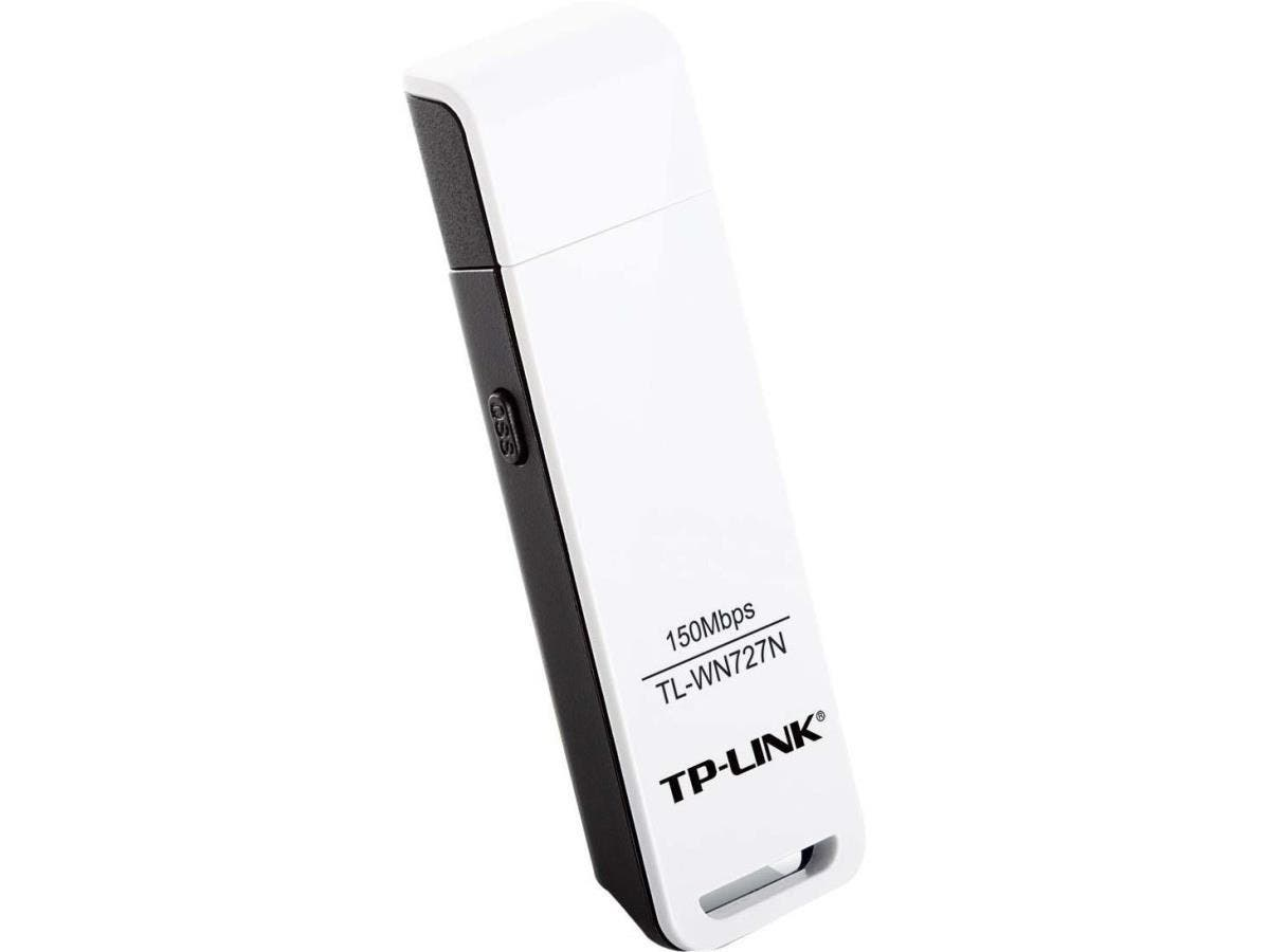TP-LINK TL-WN727N Wireless N150 USB Adapter,150Mbps, w/WPS Button, IEEE 802.1b/g/n, WEP, WPA/WPA2 - USB - 150 Mbps - 2.48 GHz ISM - External-Large-Image-1