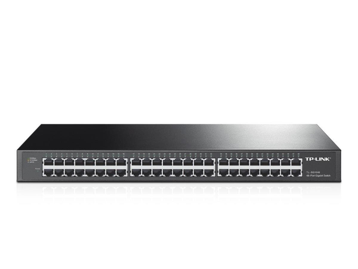 TP-LINK TL-SG1048 48-Port 10/100/1000Mbps Gigabit 19-inch Rackmount Switch, 96Gbps Switching Capacity - 48 Ports - 48 x RJ-45 - 10/100/1000Base-T