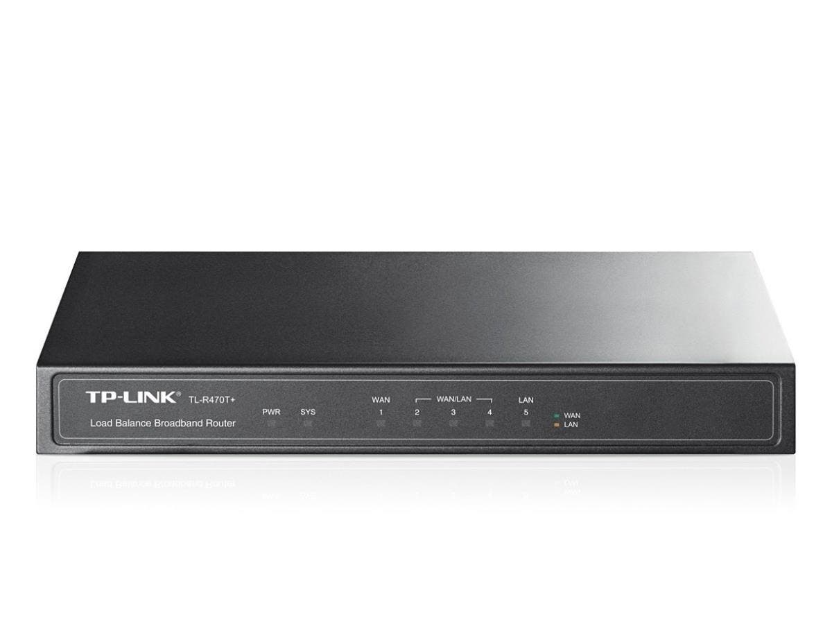 TP-LINK TL-R470T+ 5-port Load Balance Broadband Routerr, 3 Configurable WAN/LAN ports, 1 LAN, 1 WAN - 5 Ports-Large-Image-1
