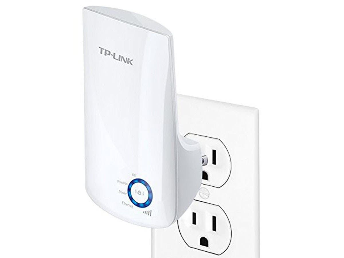TP-LINK TL-WA850RE 300Mbps Universal Wi-Fi Range Extender, Repeater, Wall Plug design, One-button Setup, Smart Signal Indicator - 2 x Antenna(s) - 1 x Network (RJ-45)-Large-Image-1