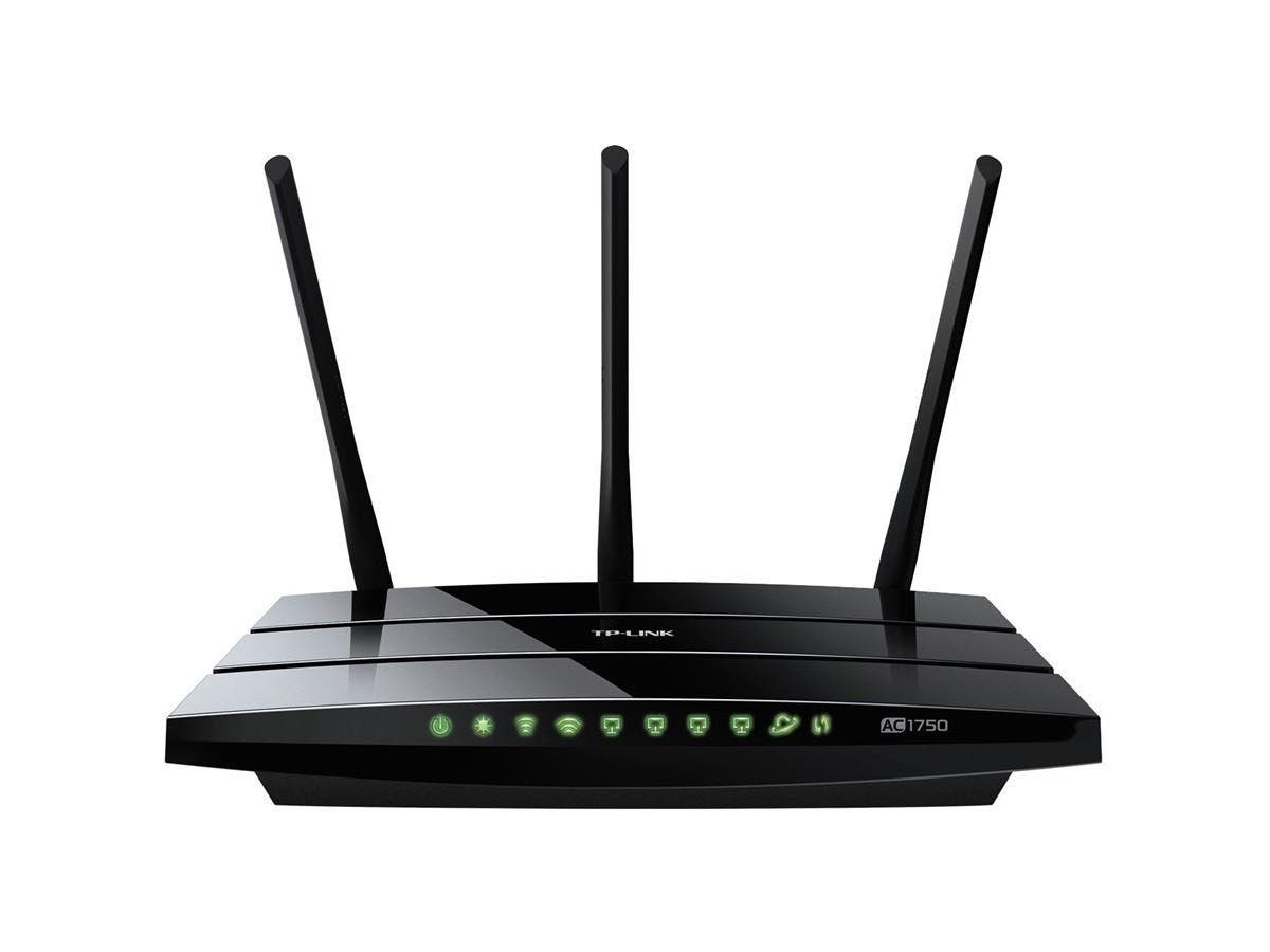 TP-LINK Archer C7 AC1750 Dual Band Wireless AC Gigabit Router, 2.4GHz 450Mbps+5Ghz 1350Mbps, 2 USB Ports, IPv6, Guest Network - 2.40 GHz ISM Band - 5 GHz UNII Band - 1750 Mbps Wireless Speed - 4 x Net-Large-Image-1