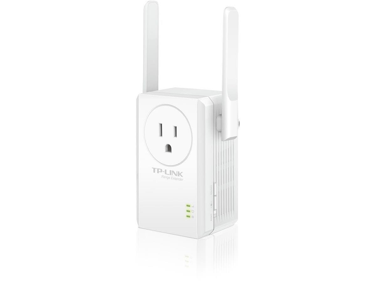 TP-LINK TL-WA860RE IEEE 802.11n 300 Mbps N300 Universal Wi-Fi Wall Plug Range Extender with External Antennas and AC Pass-thru - Wall Mountable-Large-Image-1