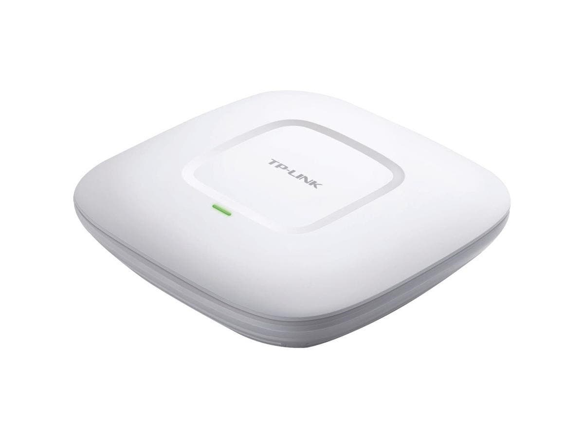 TP-LINK EAP110 IEEE 802.11n 300 Mbit/s Wireless Access Point - 2.48 GHz - 2 x Antenna(s) - 2 x Internal Antenna(s) - 1 x Network (RJ-45) - PoE, AC Adapter - Ceiling Mountable, Wall Mountable-Large-Image-1