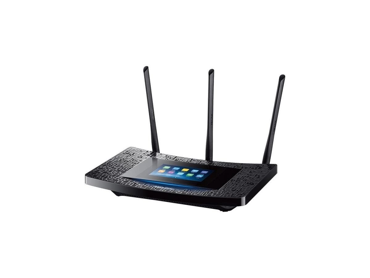 TP-LINK Touch P5 IEEE 802.11ac Ethernet Wireless Router - 2.40 GHz ISM Band - 5 GHz UNII Band(3 x External) - 1900 Mbit/s Wireless Speed - 4 x Network Port - 1 x Broadband Port - USB - Gigabit Etherne-Large-Image-1