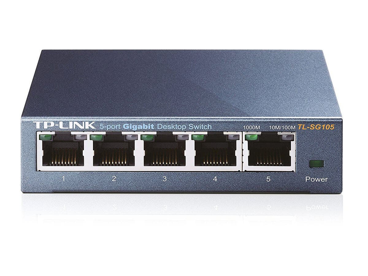 TP-Link TL-SG105 5-Port Gigabit Ethernet Metal Network Switch | Unmanaged