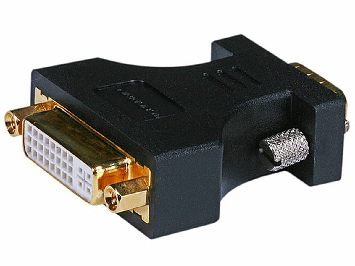 Monoprice HD15(VGA) Male to DVI-A Female Adapter (Gold Plated)-Large-Image-1