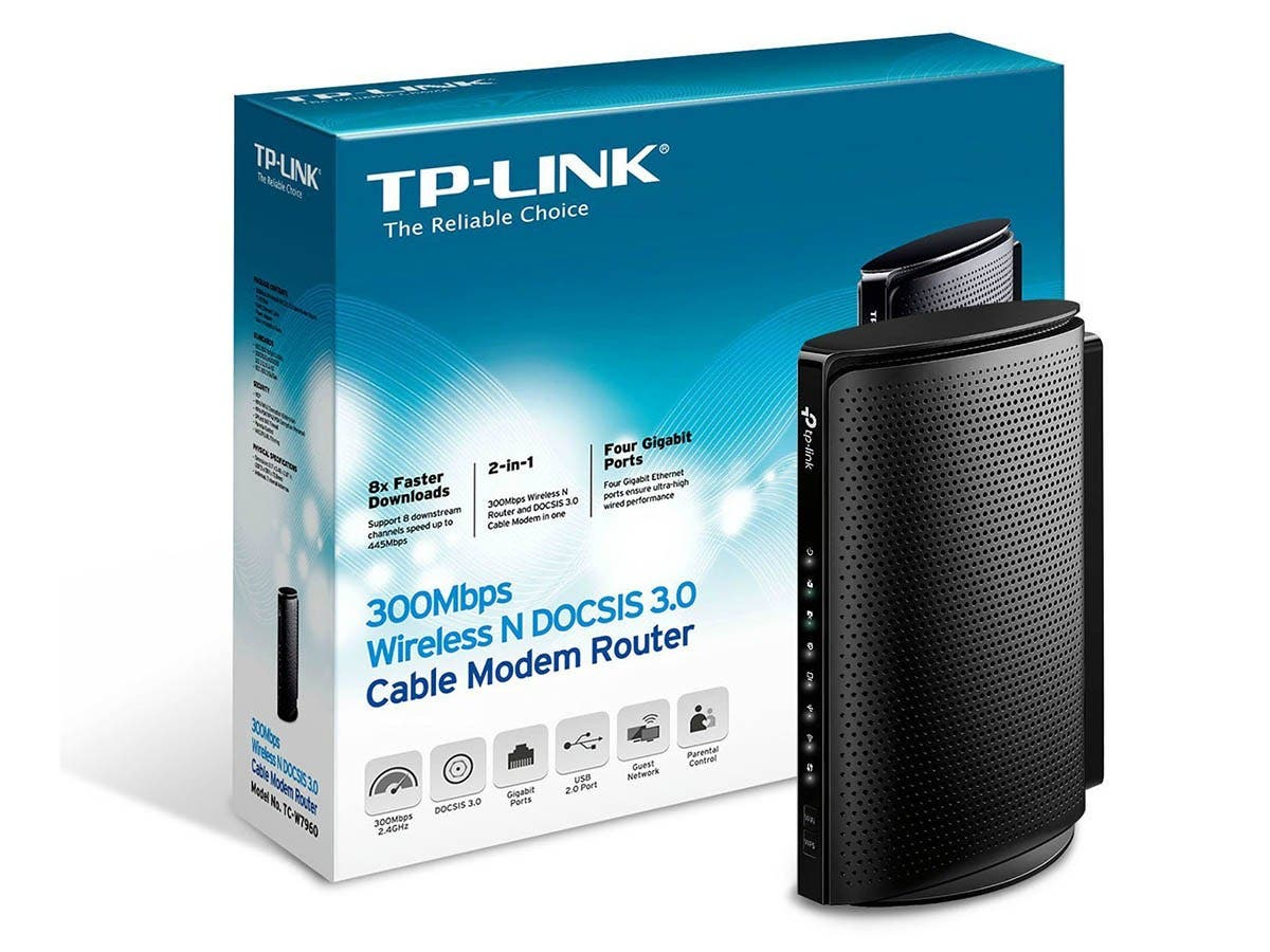 TP-Link N300 300Mbps Wireless N DOCSIS 3.0 Cable Modem Router for Comcast XFINITY, Time Warner Cable, Cox Communications, Charter, Spectrum (TC-W7960) -Large-Image-1