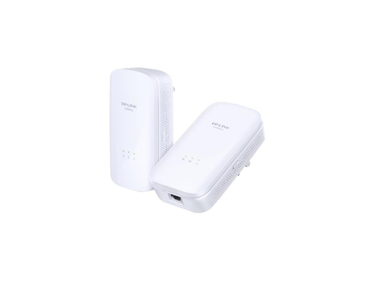 TP-LINK AV1200 Gigabit Powerline Starter Kit - 1 x Network (RJ-45) - 1200 Mbit/s Powerline - 984.25 ft Distance Supported - HomePlug AV2 - Gigabit Ethernet-Large-Image-1