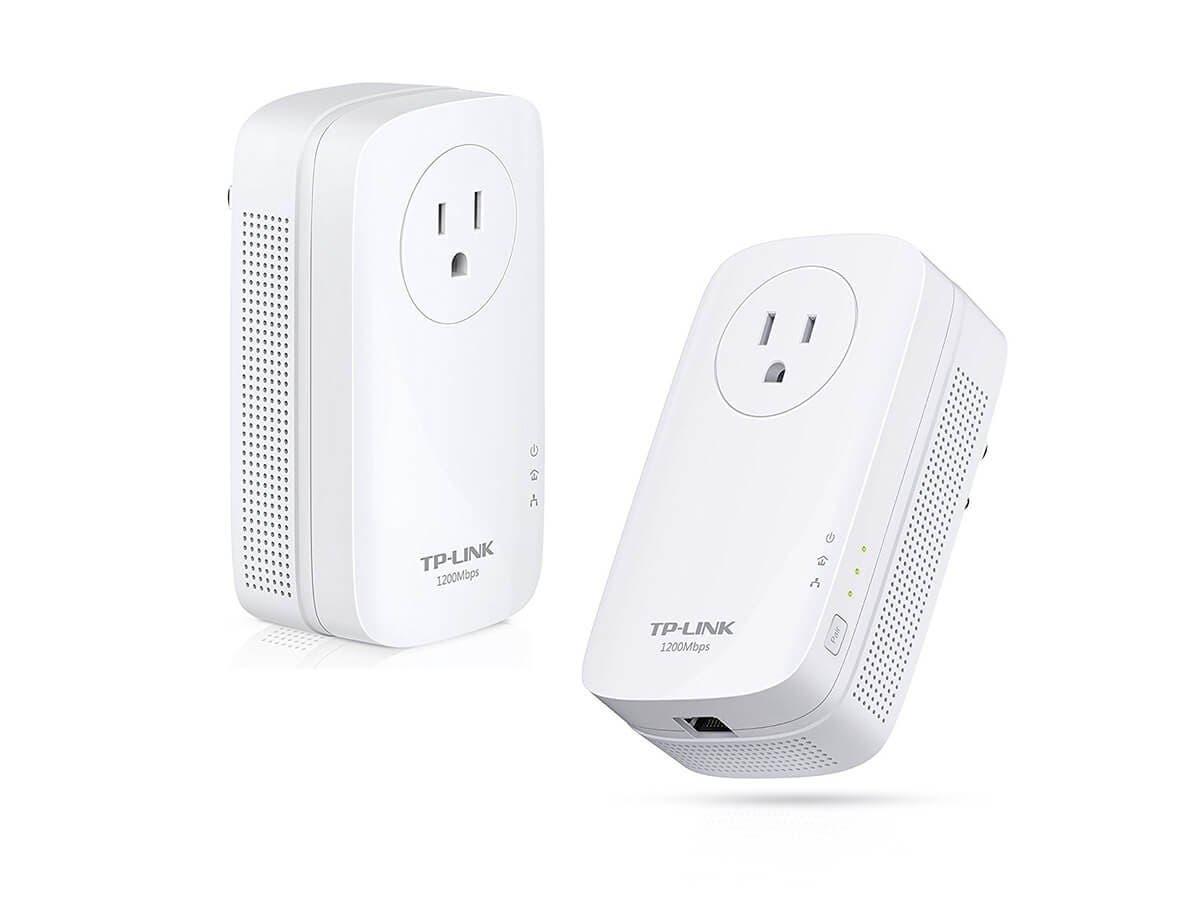 TP-LINK AV1200 Gigabit Powerline ac Wi-Fi Kit - 3 x Network (RJ-45) - 1200 Mbit/s Powerline - 984.25 ft Distance Supported - IEEE 802.11a/b/g/n/ac - HomePlug AV2 - Gigabit Ethernet - Wireless LAN - 1.-Large-Image-1
