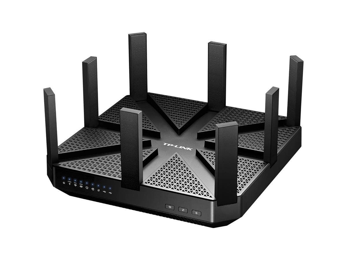 TP-LINK Talon AD7200 IEEE 802.11ad Ethernet Wireless Router - 2.40 GHz ISM Band - 5 GHz UNII Band - 9 x Antenna(1 x Internal/8 x External) - 7372.80 Mbit/s Wireless Speed - 4 x Network Port - 1 x Broa-Large-Image-1