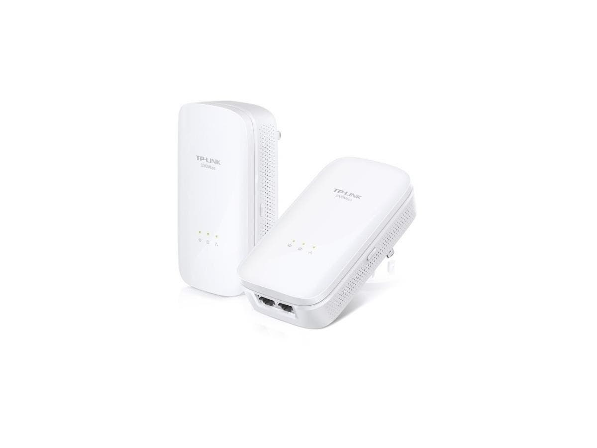 TP-LINK AV1000 2-port Gigabit Powerline Starter Kit - 2 - 2 x Network (RJ-45) - 1000 Mbit/s Powerline - 984.25 ft Distance Supported - HomePlug AV2 - Gigabit Ethernet-Large-Image-1