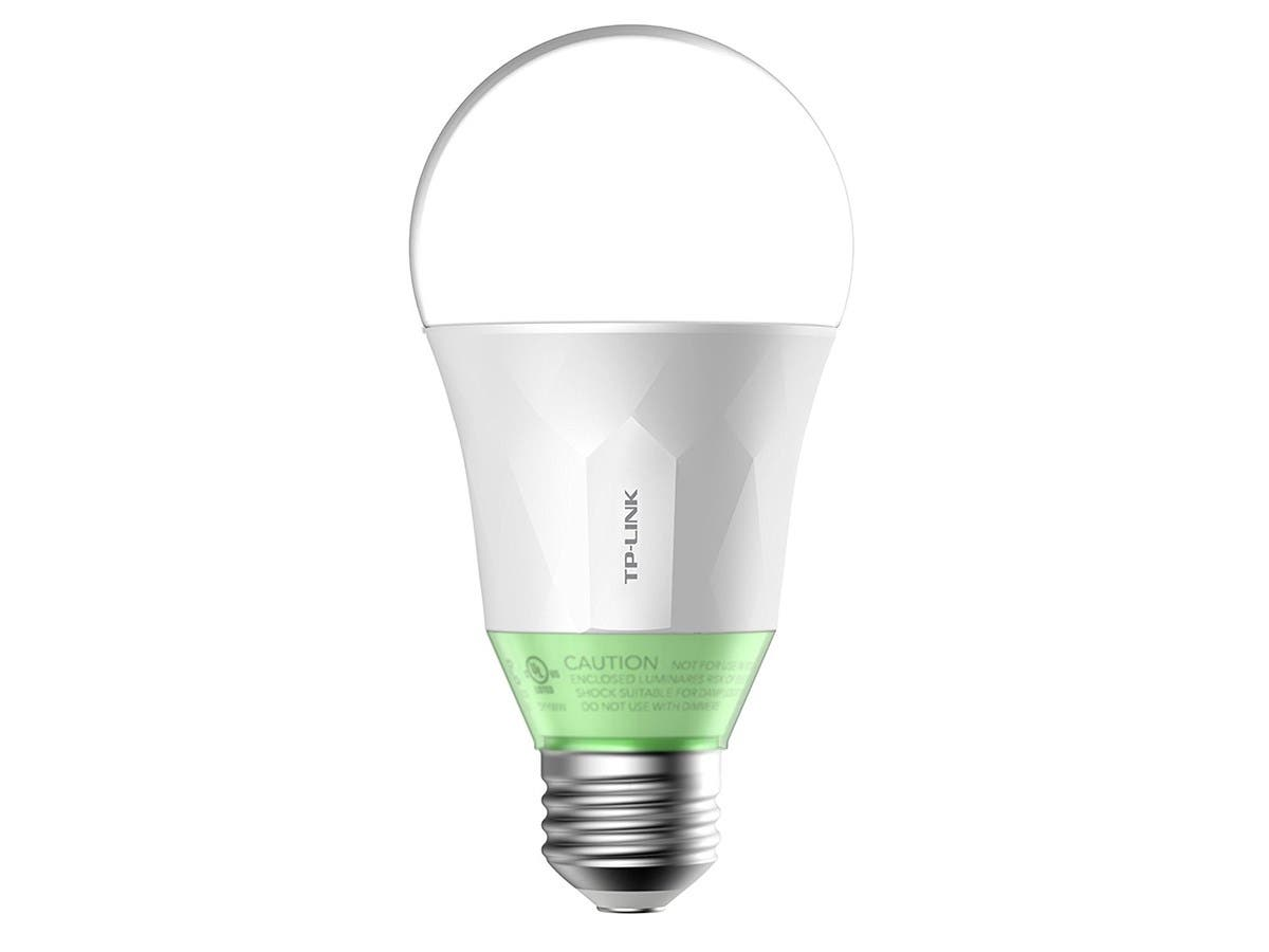 TP-Link Smart LED Light Bulb, Wi-Fi, A19, Dimmable White, 60W Equivalent, 1-Pack (LB110) -Large-Image-1
