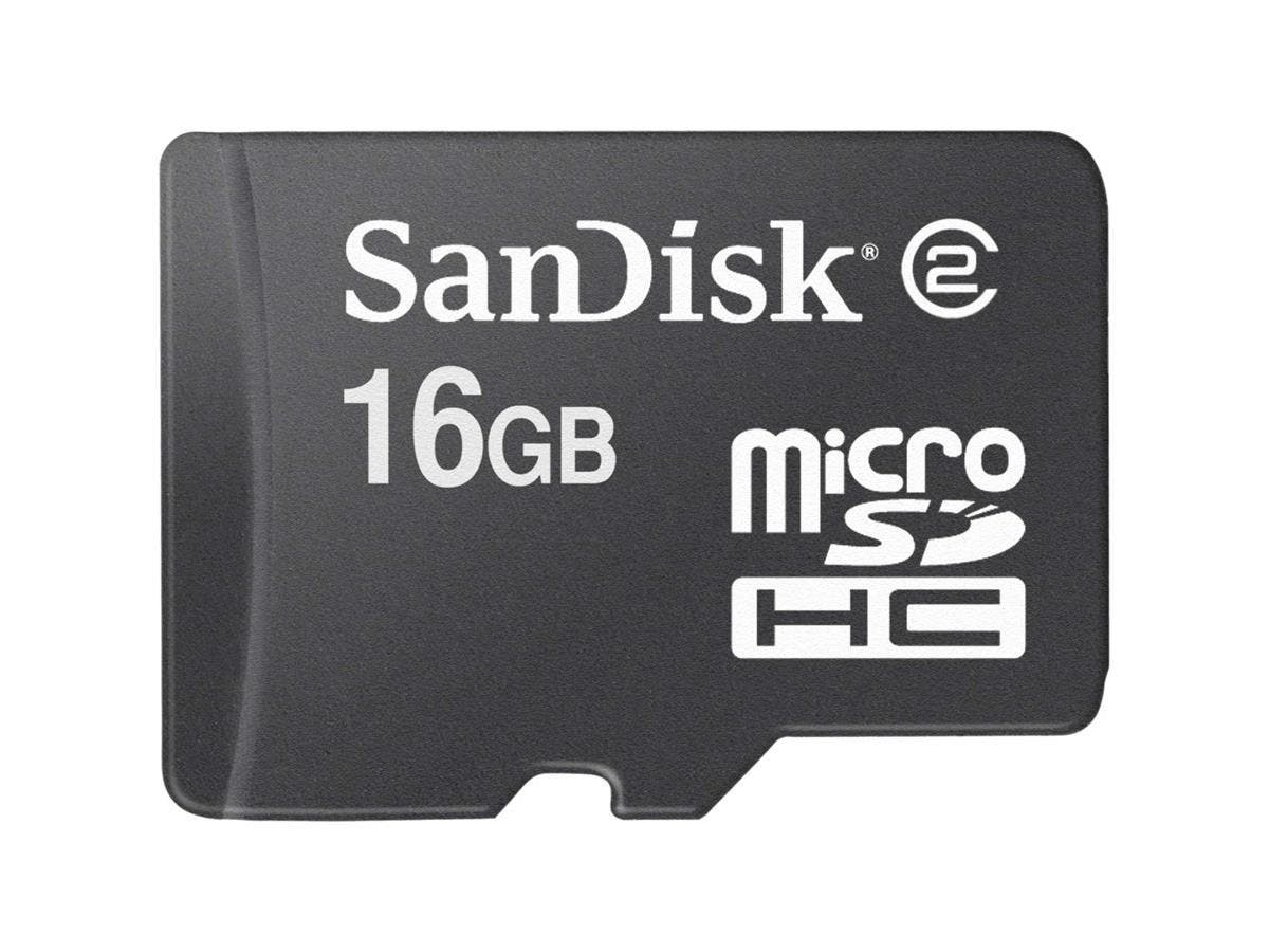 SanDisk SDSDQM-016G-B35 16 GB microSDHC - Class 4 - 1 Card-Large-Image-1